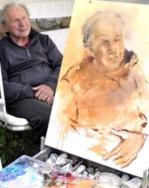 Painting Portrait of Daddy by Jan Rericha Cardamine