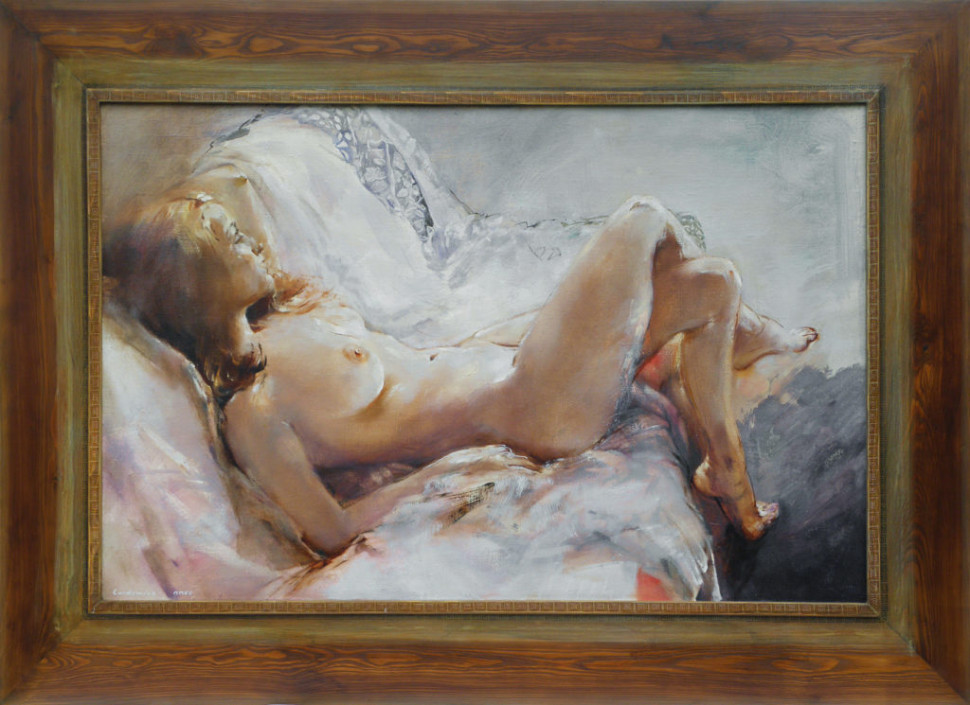 Painting Reclining Nude by Jan Rericha Cardamine