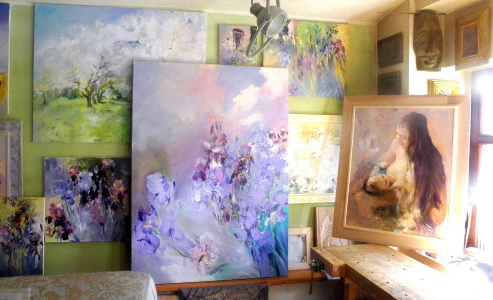Painting Jan Rericha Cardamine - Atelier Slavetin 2018
